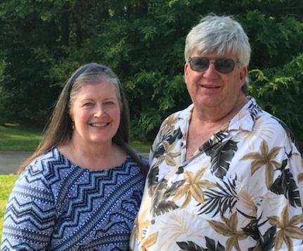Steve & Dortha in the yard