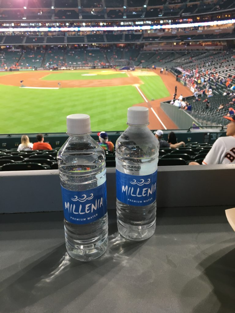 Millenia has made it to Minute Maid Park in Houston, TX. Yeah, Millenia!!!